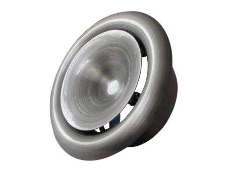 Anemostat metalowy nawiewny Ø100